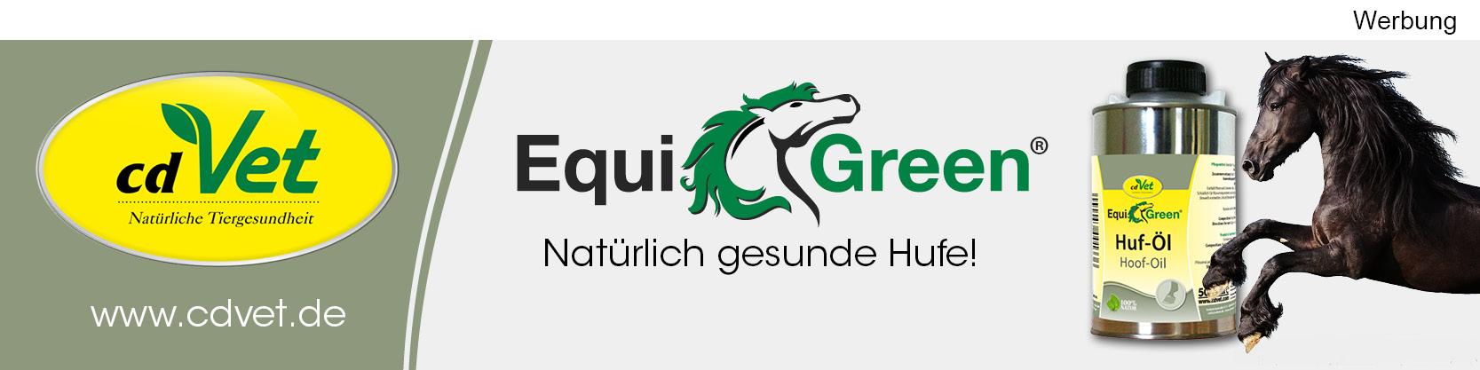 Werbung Equigreen Huföl