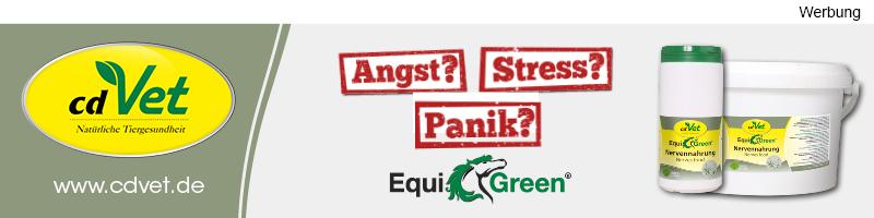 Werbung EquiGreen Nervennahrung